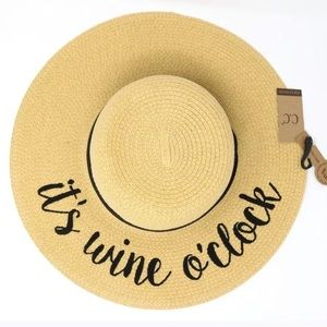 Floppy crushable It's wine o'clock hat spf 50